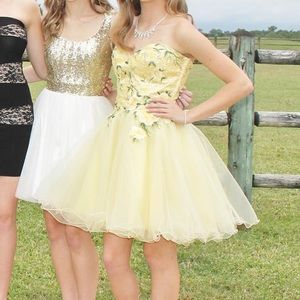 Yellow Sherri Hill dress